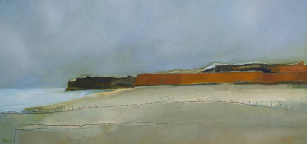 Sea Edge. Oil on Board 29.5 x 18.5
